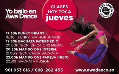 Hoy Toca Jueves en Awa Dance